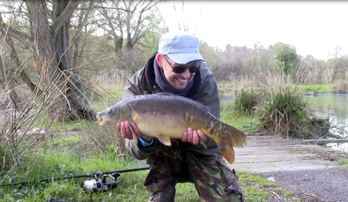 Mirror carp at Century Ponds