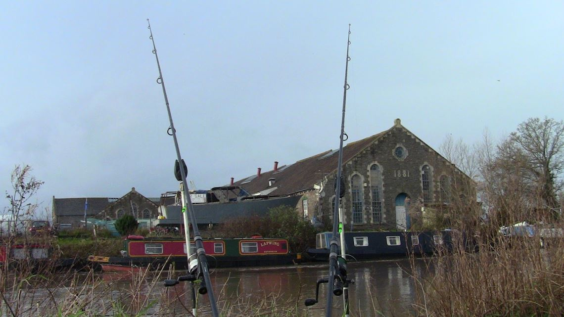 Rods in the air on the Bristol Avon