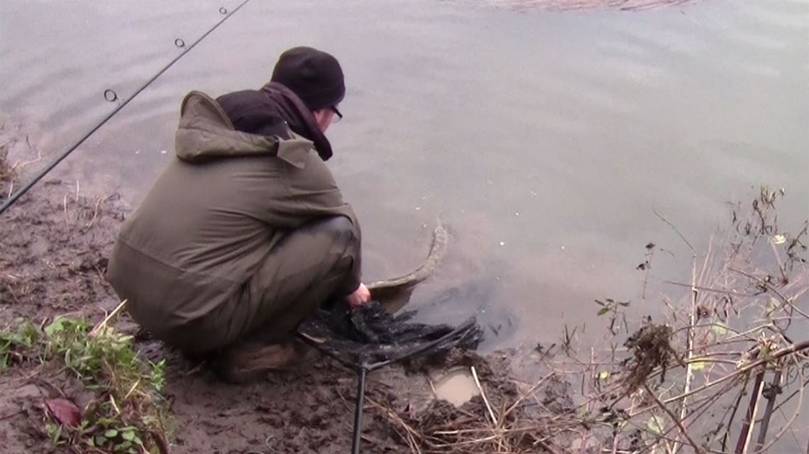 Releasing my 1st River Avon pike at Swineford