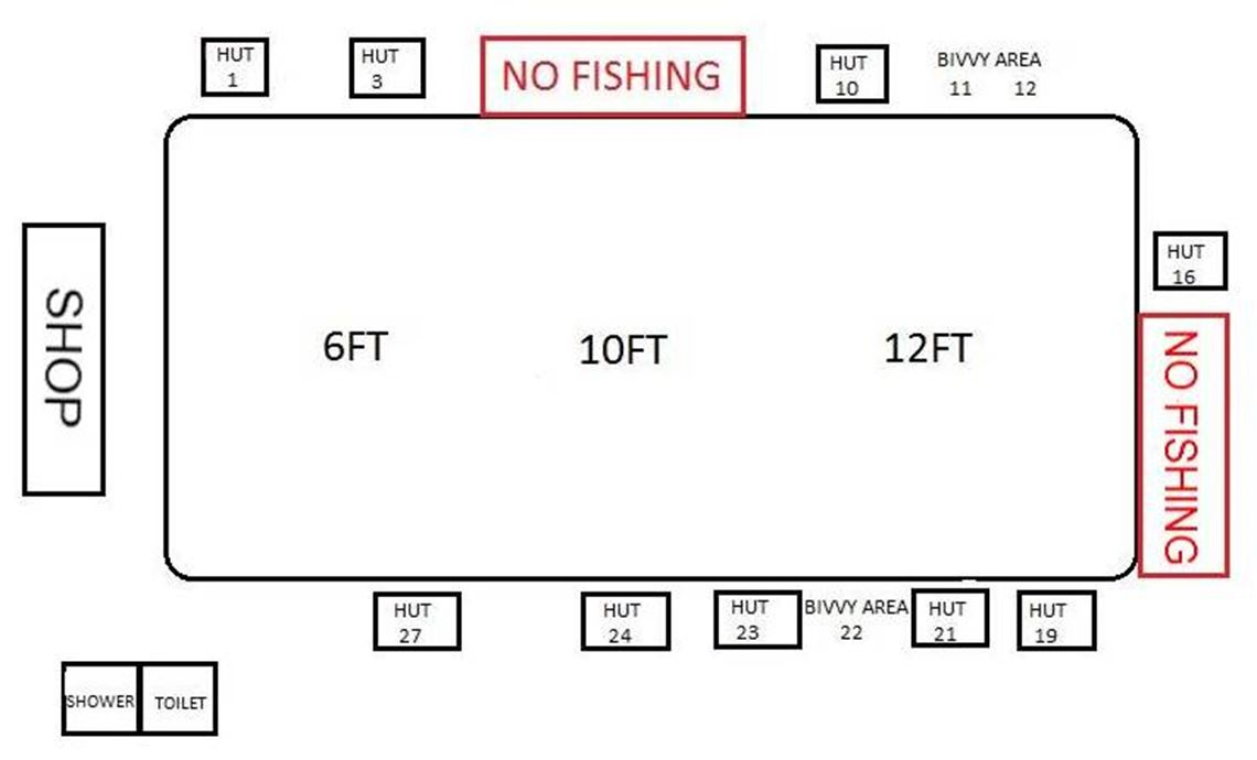 Follyfoot Fishery hut map