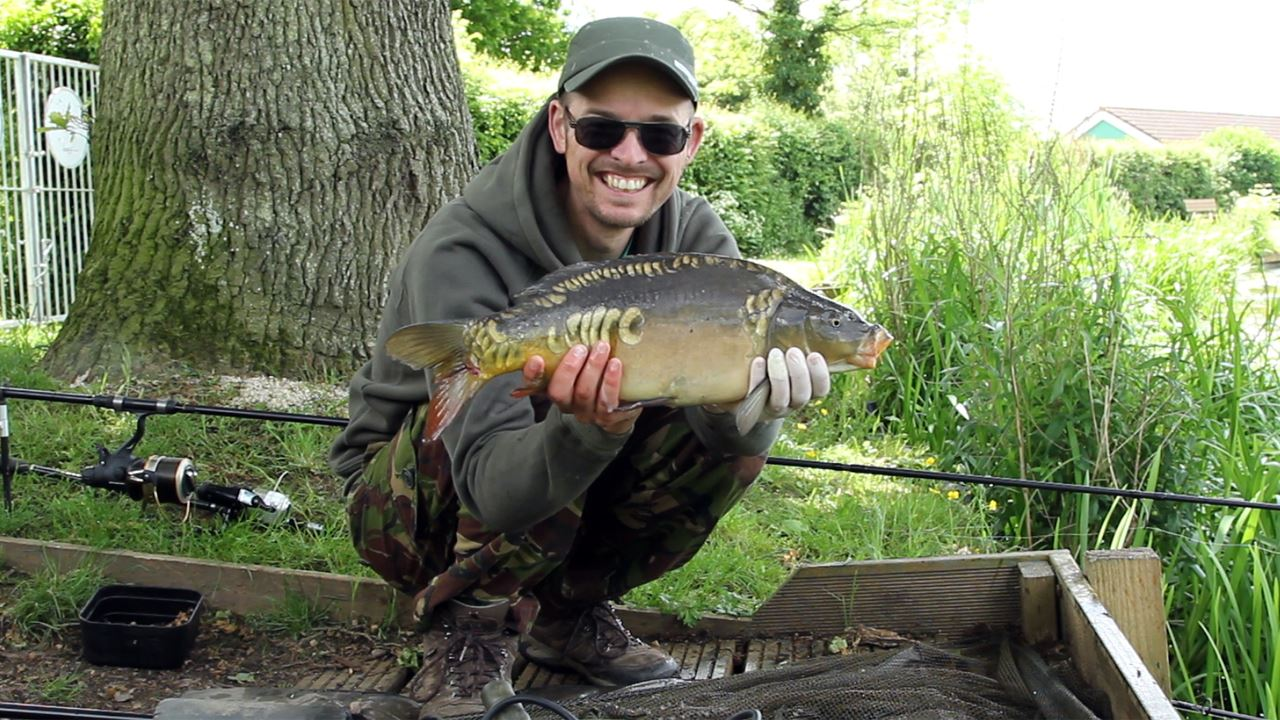 Carp caught on a Zig at Bitterwell Lake