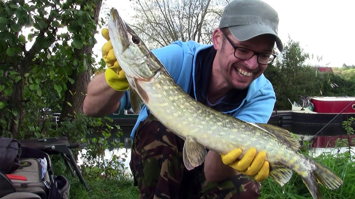 Jack Pike caught from the River Avon at Keynsham
