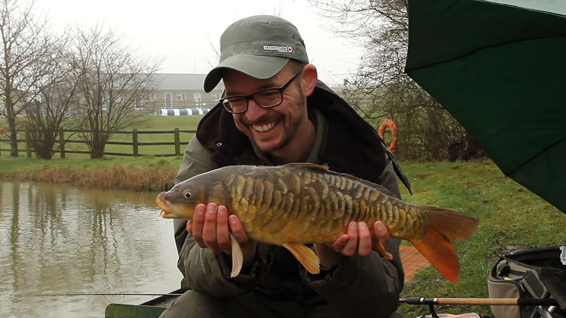 Mirror Carp caught at Hunters Lake