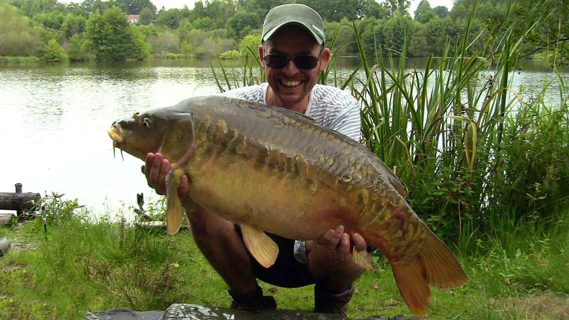 25lb Mirror Carp caught at Cherpont Lake