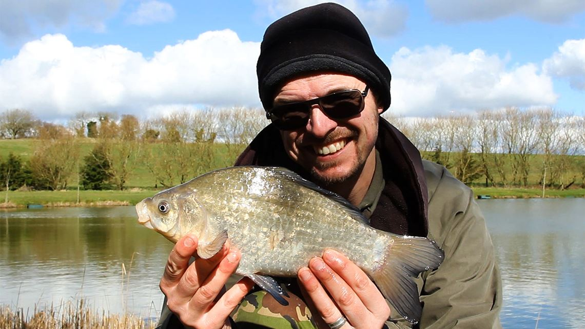 Crucian carp caught from Hunters Lake
