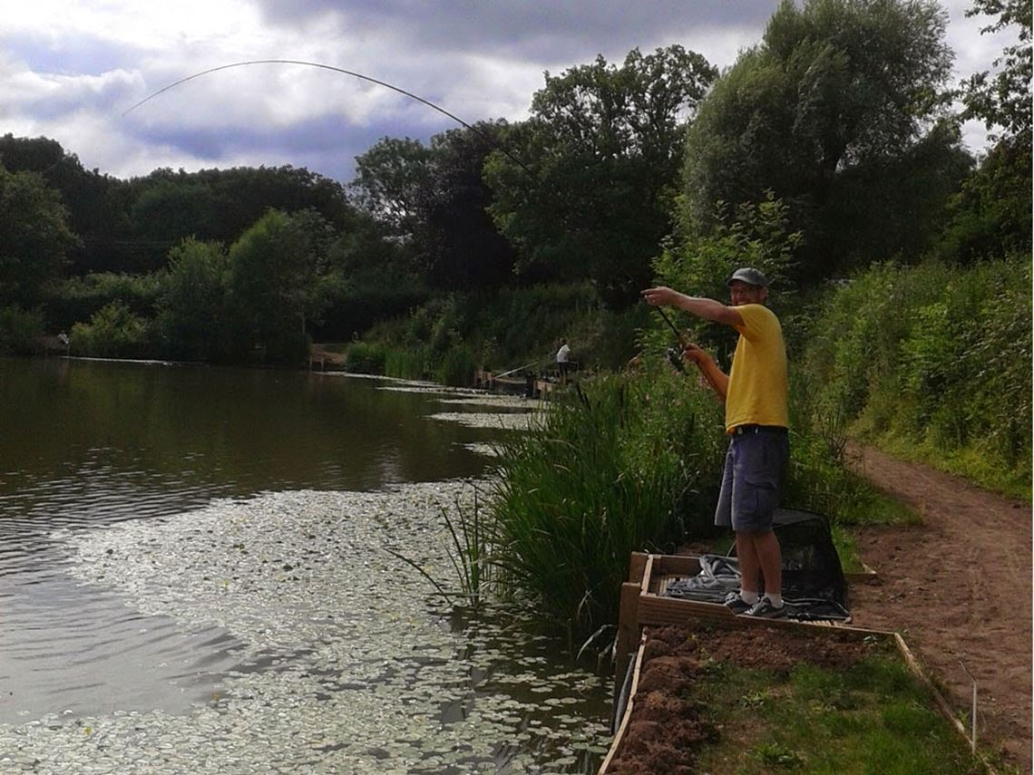 Surface fishing at Bitterwell Lake